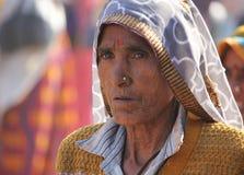 Starszy Indiański kobieta portret Obrazy Stock