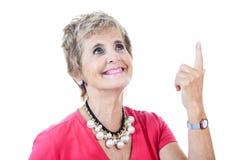 Starszy kobieta bielu tło Obrazy Royalty Free