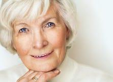 Starszy kobieta portret obrazy stock