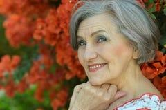 Starszy kobieta portret Zdjęcie Stock