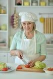 Starszy kobieta portret Fotografia Royalty Free