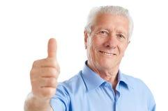 starszy mężczyzna kciuk Fotografia Stock