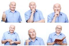 Starszy mężczyzna postępuje inaczej dla each fotografii zdjęcia stock
