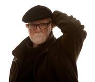 Starszy mężczyzna z jego ręką na jego głowie fotografia stock