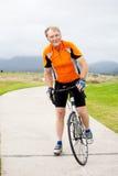 Starszy męski cyklista Fotografia Stock