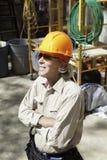 Starszy męski pracownik budowlany Zdjęcie Royalty Free