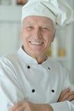 Starszy męski szef kuchni Zdjęcia Royalty Free
