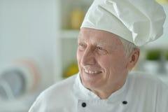 Starszy męski szef kuchni Zdjęcia Stock