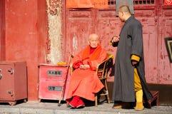 Starszy mnich buddyjski Fotografia Royalty Free
