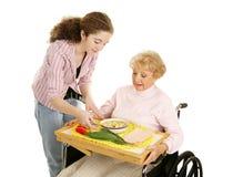 starszy ochotnika nastolatków. Zdjęcie Royalty Free