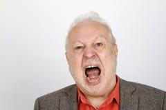 Starszy osoby płakać agresywny Zdjęcie Stock