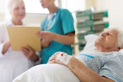 Starszy pacjent w ? fotografia royalty free