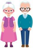Starszy para małżeńska mąż, żona w pełnej długości i ilustracji