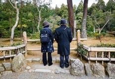 Starszy pary odprowadzenie przy parkiem Fotografia Royalty Free