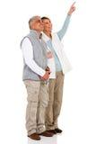 Starszy pary wskazywać Zdjęcie Royalty Free