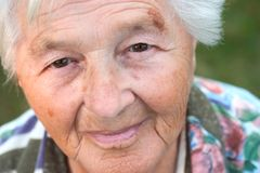 starszy portret Obraz Royalty Free