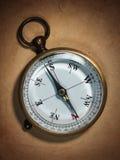 starszy rocznik papierowego kompas Zdjęcie Royalty Free