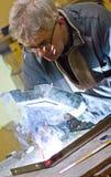 starszy spawalniczy pracownik Obraz Royalty Free
