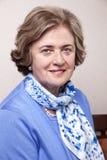Starszy Uśmiechnięty kobieta portret Zdjęcia Royalty Free