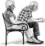 Starszy współmałżonka odpoczywać ilustracji