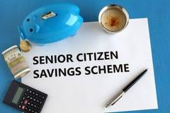 Starszych Obywatelów oszczędzania Spiskują O niskim ryzyku Inwestorską opcję fotografia stock