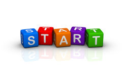 Start. (buzzword colorful cubes series Stock Images