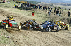 Start!. Buggy and enduro competition Stone storm near Sebastopol, Sapun-mountain. Second stage Royalty Free Stock Photo