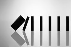 Start. The image created from a domino effect Stock Photography