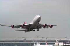 Start 2 van vliegtuigen stock afbeelding