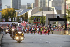 Start of 2009 Chicago Marathon race Stock Image