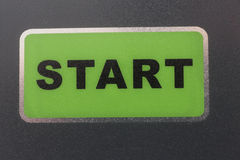 Start. Green button with the word START Stock Photos