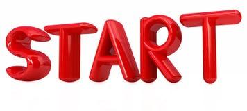 Start 3d red text Stock Photos