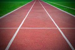 Start. Empty racetrack in stadium. On start royalty free stock photos