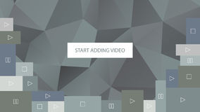 Start adding video. Abstract gray polygonal geometric background for website. Royalty Free Stock Image