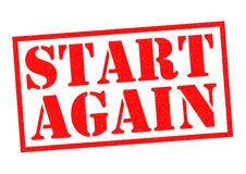 START AGAIN Stock Photography