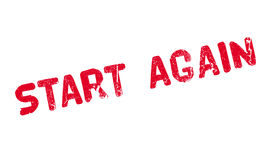 Start Again rubber stamp Royalty Free Stock Photo