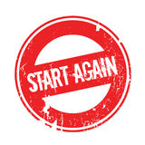 Start Again rubber stamp Stock Images