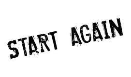 Start Again rubber stamp Royalty Free Stock Photography
