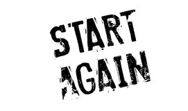 Start Again rubber stamp Royalty Free Stock Images