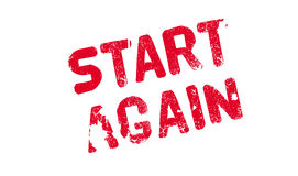 Start Again rubber stamp Stock Photography