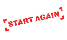 Start Again rubber stamp Stock Photos
