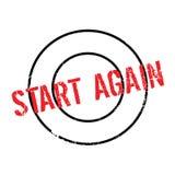 Start Again rubber stamp Stock Image