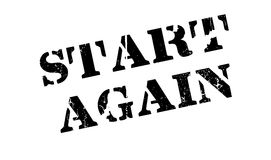 Start Again rubber stamp Royalty Free Stock Image