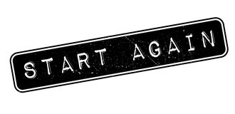 Start Again rubber stamp Stock Photo