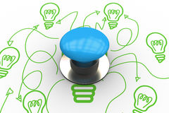 Start against idea and innovation graphic Royalty Free Stock Photos