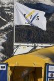 Start Area during World Ski Men Ita Downhill Race Royalty Free Stock Images