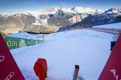 Start Area during World Ski Men Ita Downhill Race Royalty Free Stock Image