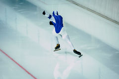 Start athlete in speed skating Stock Photos