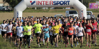 Start av löpare arkivbild