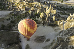 Start of the balloon. It was overlook flight over   mountain in Turkey Stock Photo